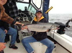 King / Chinook Tyee caught with Ucluelet Charters